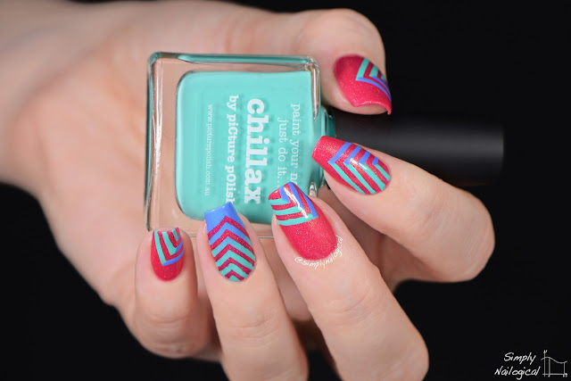 Simply Nailogical Picture Polish Geometric Right Angle Fun