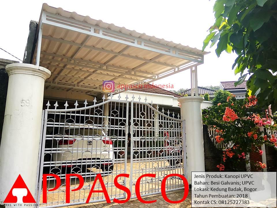 Kanopi UPVC Keren Minimalis di Kedung Badak Bogor