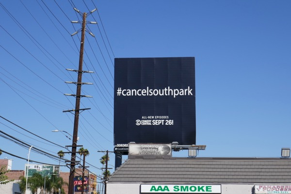 Cancel South Park season 22 billboard