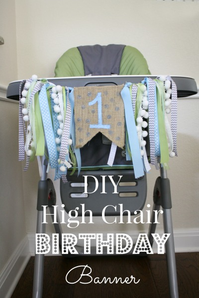DIY high chair banner