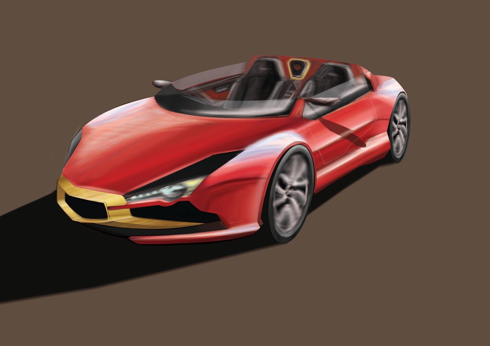 Simon Drew Automotive Designer Ducati Sports Car Render