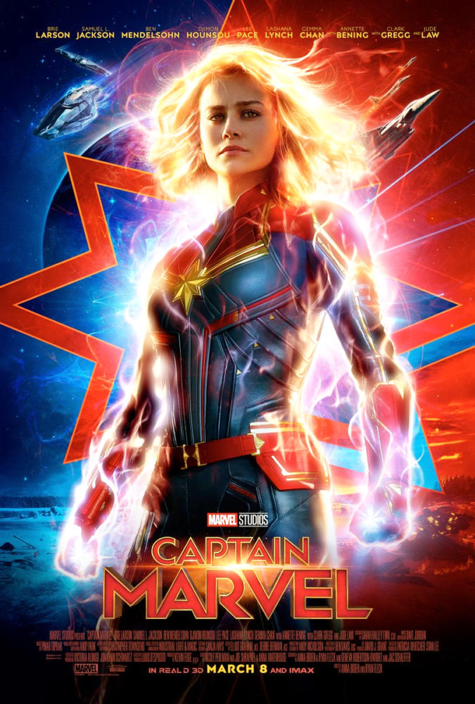 New poster for Brie Larson's Captain Marvel