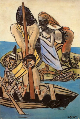 """Odysseus and the Sirens"" Max Beckmann, 1933,The Odyssey, The Sirens, greek mythology"