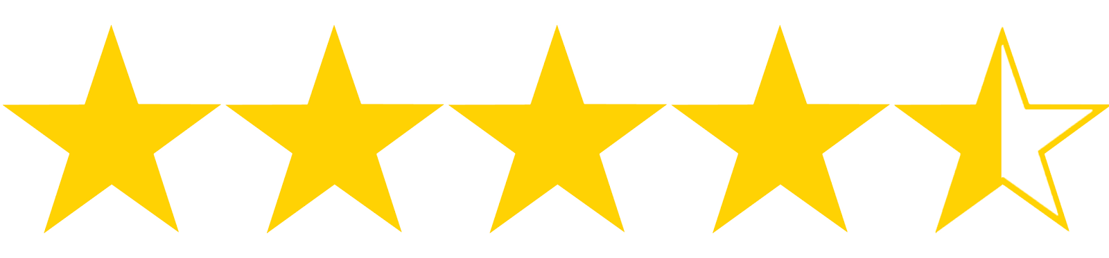Image result for 4 and a half star rating