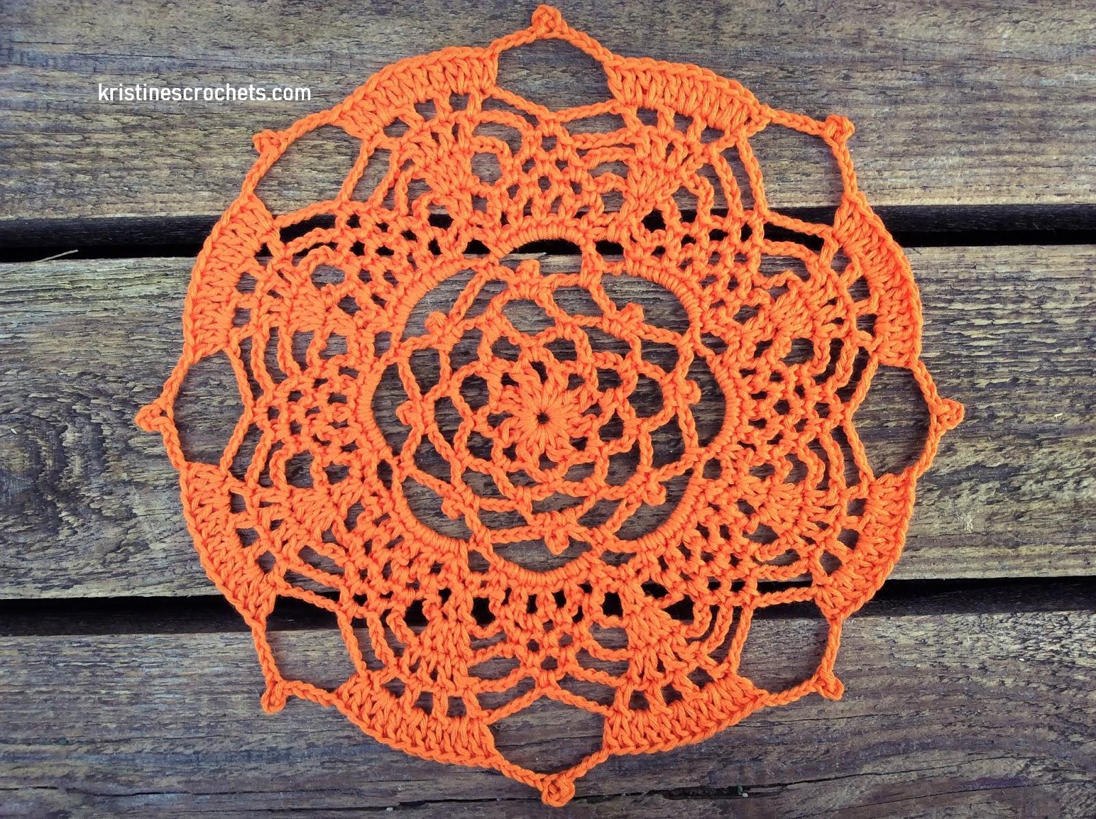 Kristinescrochets Pineapple Doily Free Crochet Pattern