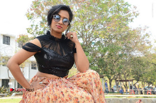 Actress Chetana Uttej Stills in Floral Long Skirt at Pichiga Nachav Movie Press Meet  0130.JPG