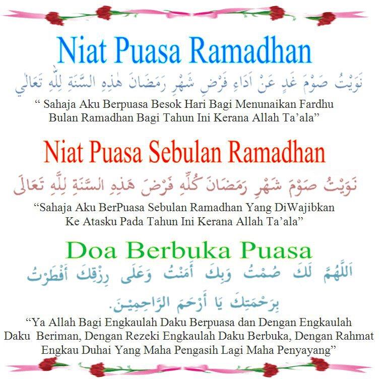 Unique Of Islam: Niat Puasa Ramadhan & Puasa Sebulan