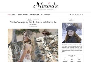 Miranda Elegant Blogger Template