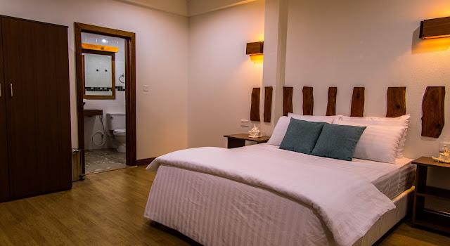 One of the rooms at Dive Lodge, Rasdhoo Atoll, Maldives