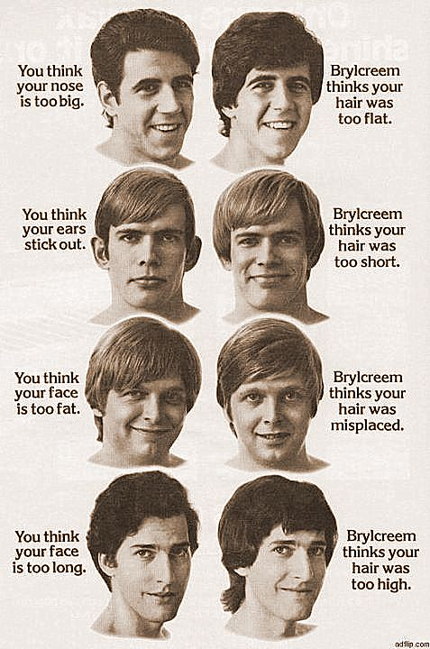 Buttons Place Brylcreem Thinks