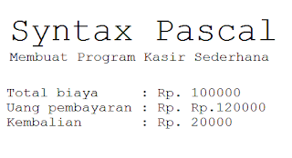 Syntax Pascal Membuat Program Kasir Sederhana