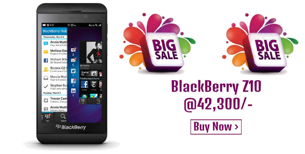 Dealsothon-BlackBerry Z10 In Charcoal Black With BlackBerry OS 10
