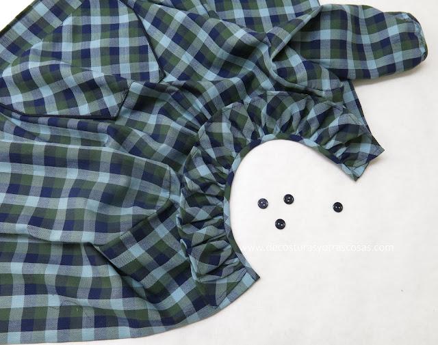 tutorial de costura camisa de cuadros infantil