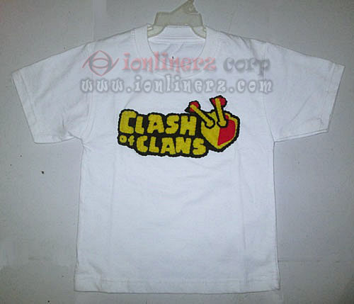 Kaos / Baju Flanel Anak Karakter Kartun Clash Of Clans (COC)