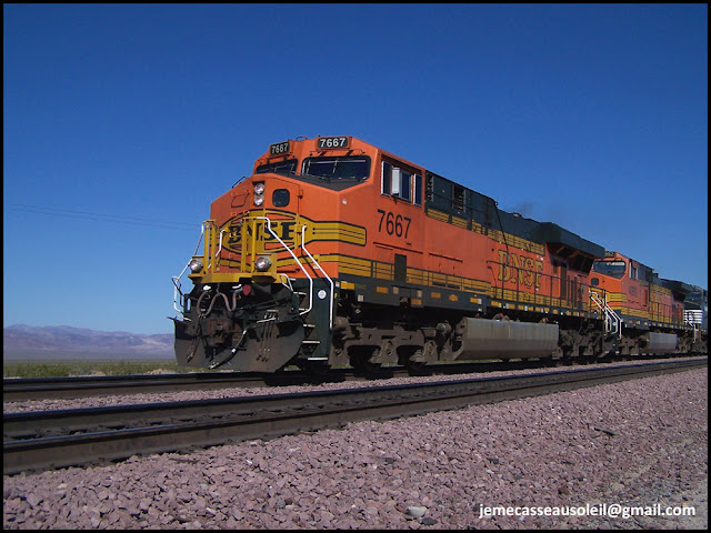 Train BNSF - 96 wagons !!!
