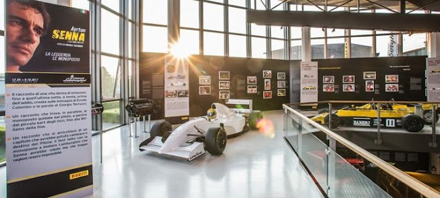 Al Museo Lamborghini di Sant'Agata Bolognese, la mostra dedicata ad Ayrton Senna - Vista della mostra