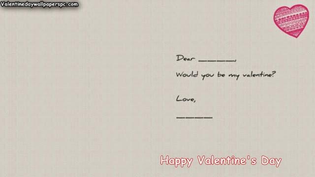 Valentines Day Romantic Quote Wallpaper