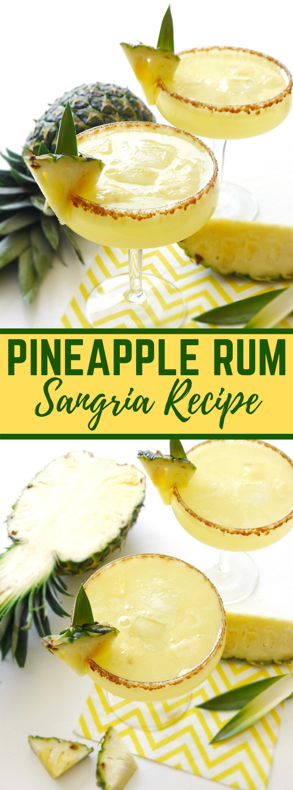 Pineapple Rum Sangria Recipe #drinks #summer