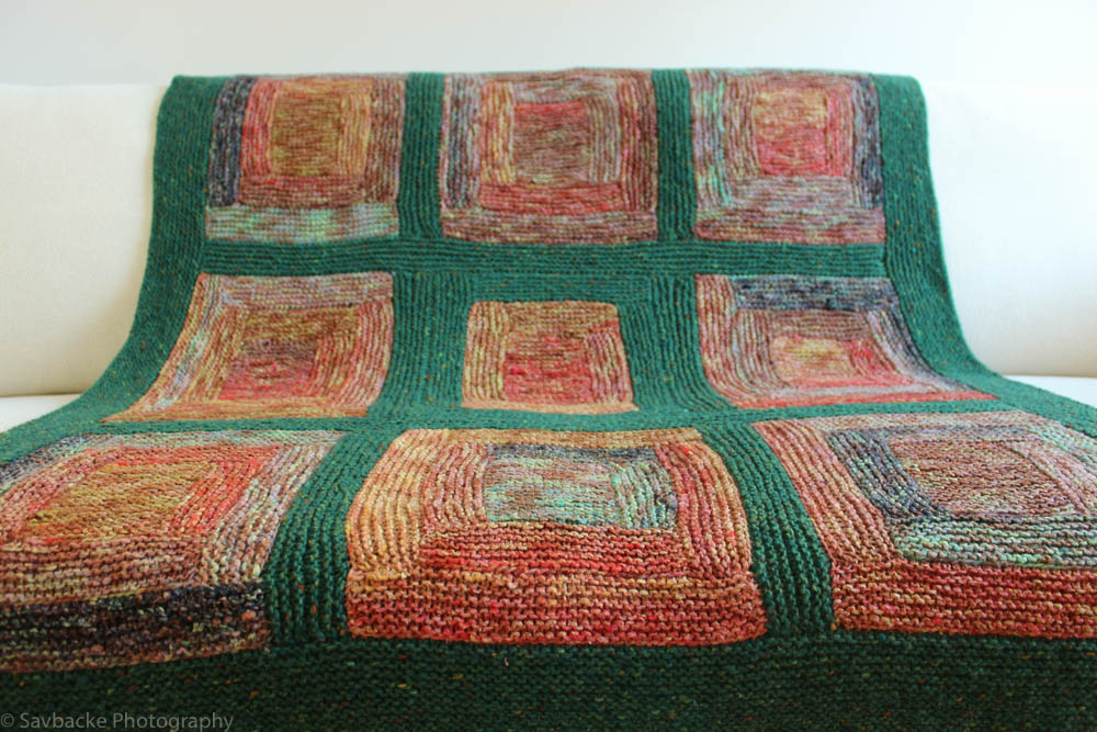 Birkenwasser knits paintbox log cabin blanket for Log cabin blanket