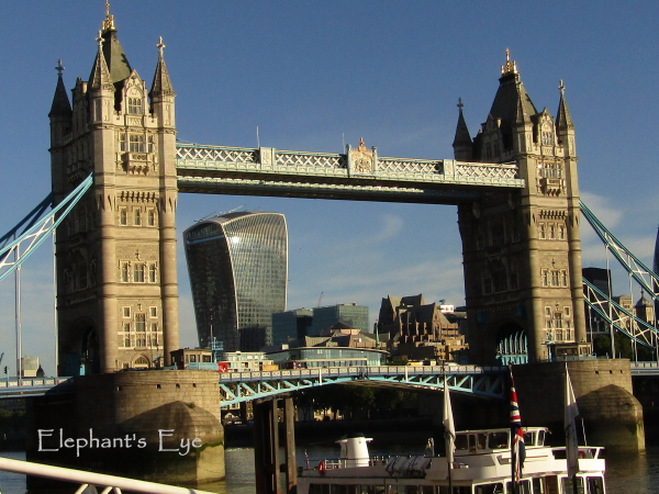 Walkie Talkie building and Tower Bridge
