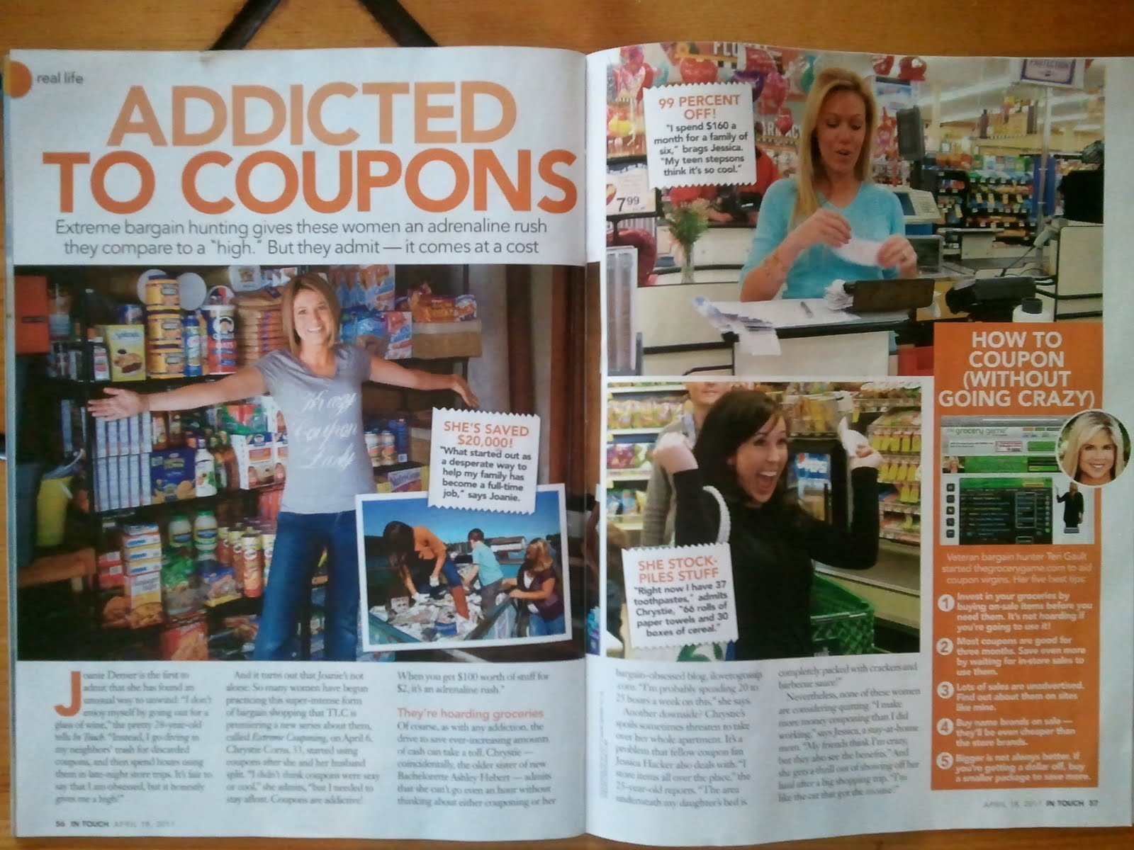 Living On A Coupon Intouch Weekly Article