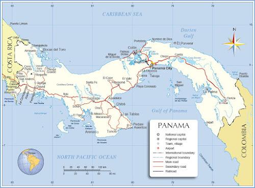 Mapa Panamá
