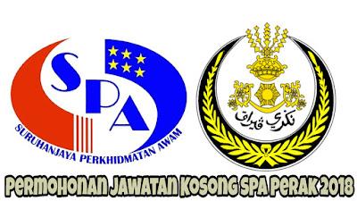 Permohonan Jawatan Kosong SPA Perak 2018
