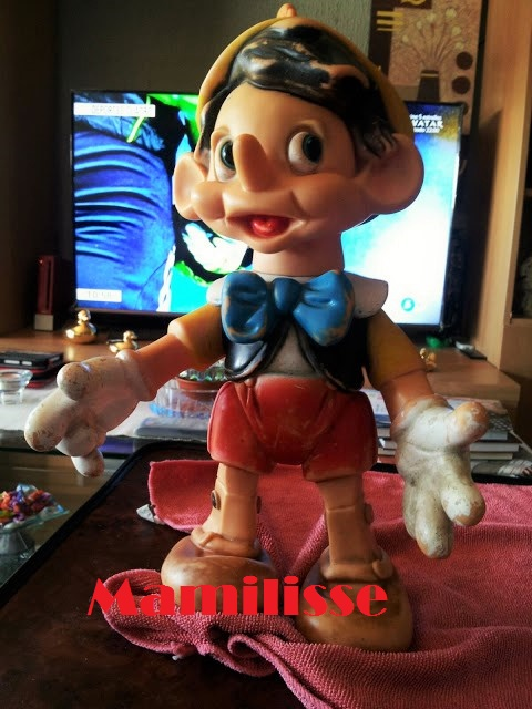Pinocho de Famosa antes de restauración
