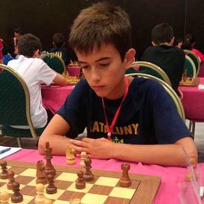 El ajedrecista Sub-12 EDGAR ROCA PLANAS