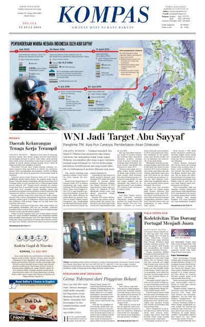 Kompas Edisi Selasa 12 Juli 2016
