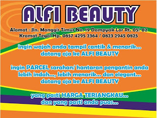Download Desain Brosur Salon Kecantikan Alfi Beauty Tegal CDR