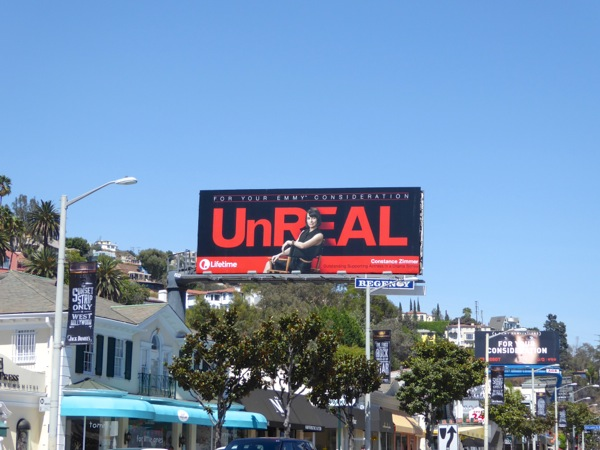 UnREAL 2016 Emmy nomination billboard Sunset Strip