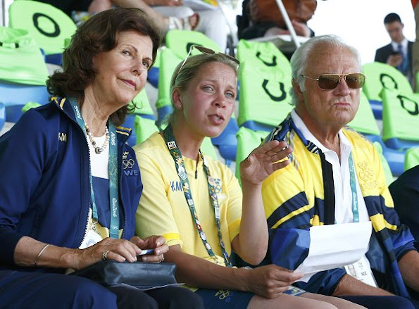 King Carl Gustaf and his wife Queen Silvia arrived in Rio de Janeiro  for the 2016 Summer Olympics. Princess Madeleine
