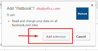 add flatfacebook extension