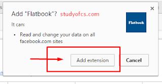 add flatfacebook extension