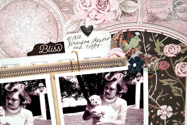 Beautiful Memories Layered Ephemera Closeup by Dana Tatar for Scraps of Darkness - August Sparkle and Shine Kit