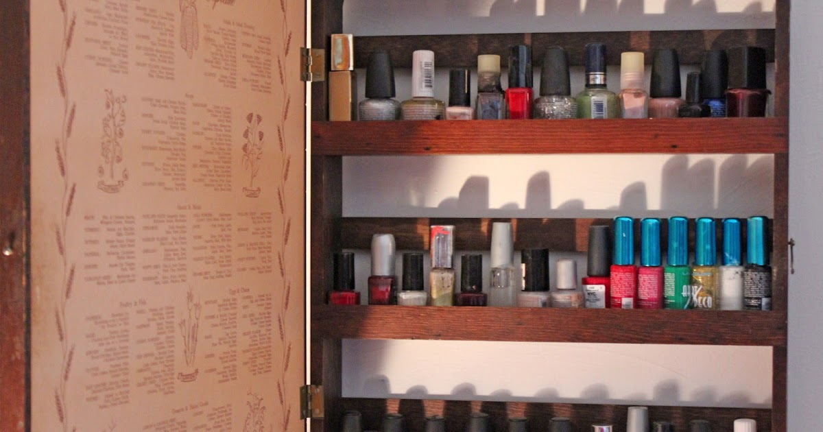 Thrift Trick Nail Polish Cabinet Diy And Dressing Room