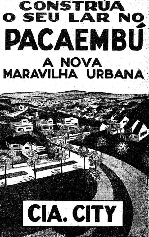 Campanha que promovia a venda de lotes no Pacaembú, na cidade de São Paulo, em 1937