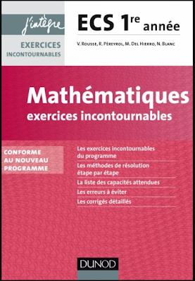 Télécharger Livre Gratuit Mathématiques Exercices incontournables ECS 1re année - J'intègre, Dunod pdf