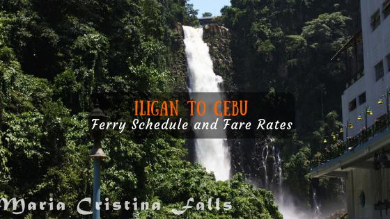 Cebu to Iligan Ferry Schedule
