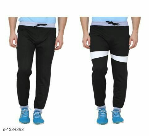 Trendy Casual Hosiery Cotton Blend Track Pants Combo (Pack Of 2)