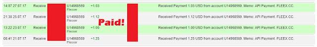 Bukti Pembayaran Mining Gratis dari Fleex.cc (Payment Proof)
