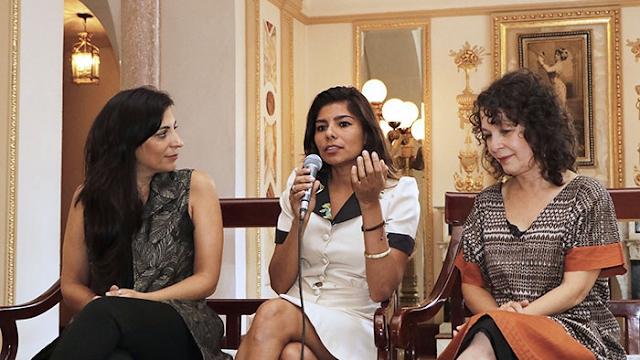 EL TRASHUMANTE DE LA NOCHE, Tres voces, tres mujeres, tres vanguardias latinoamericanas en el IRIS ¡