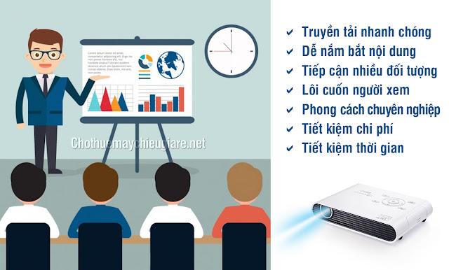 Chia sẻ những lợi ích từ việc sử dụng máy chiếu thuyết trình