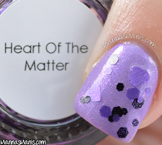 Quaint Paints Lacquer Heart of the Matter macro swatch
