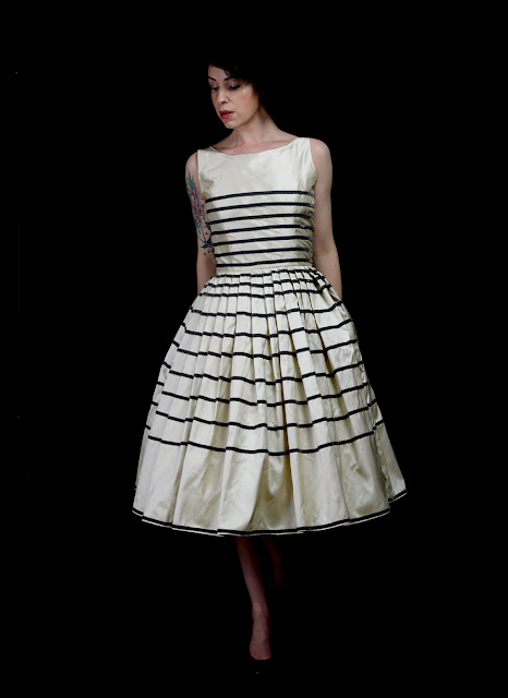 vintage 1950s stripe dress