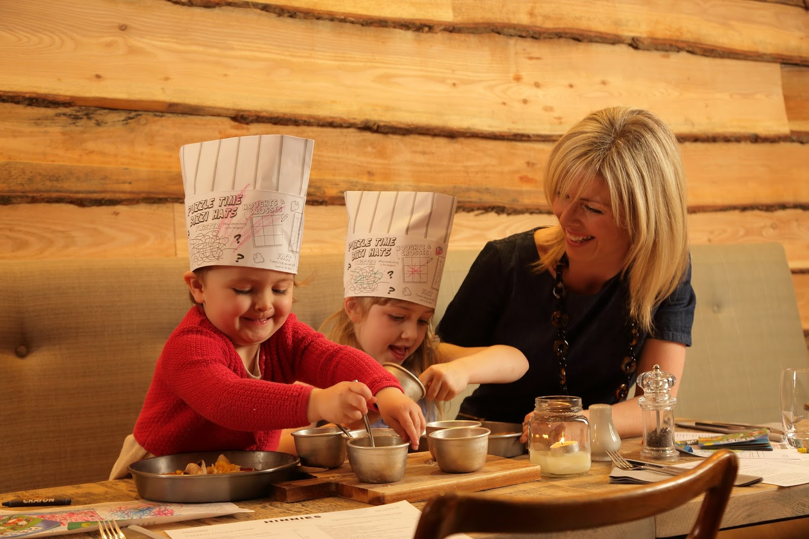 Children's menu and create your own pizza's at Hinnies restaurant, Whitley Bay