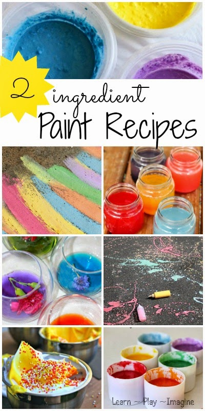Two Ingredient Paint Recipes Learn Play Imagine