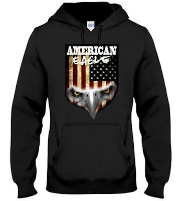American Flag American Eagle T Shirt Hoodie Sweatshirt