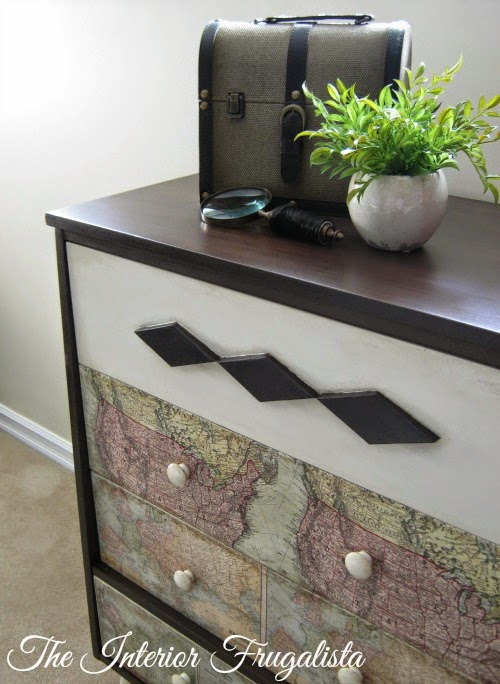 MCM Dresser with close up of map fronts